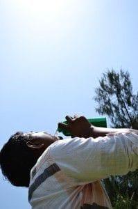 Gut und viel Trinken vor dem Joggen