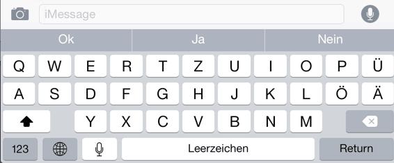 Quicktype ist eine andere iOS 8 Neuigkeit