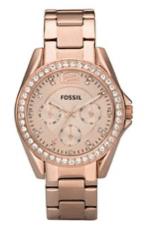 Rot-Goldene Uhr für Damen von Fossil