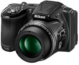 Nikon Kompaktkamera in Schwarz