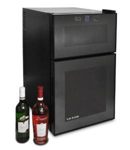 Der Topseller von Klarstein: schwarzer Weinkühlschrank für 24 Flaschen