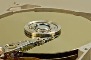 In einen Sat Receiver eingebaute Festplatte
