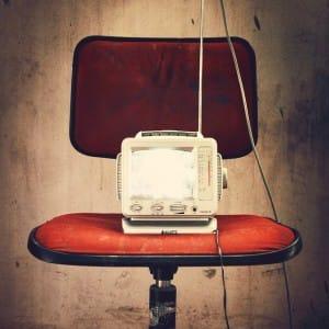 Alter Fernseher aus vergangenen Zeiten