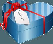 Geschenkbox mit Liebe für den Liebsten