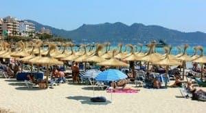 Ein Stück Sand-Strand von Cala Millor