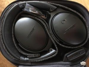 Fertig ausgepackter Kopfhörer