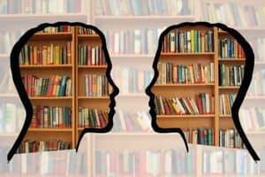 Die 10 beliebtesten Studiengänge in Deutschland - Eine Nahaufnahme von einem Bücherregal - Bibliothek