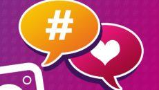 hashtags und Instagram Logo