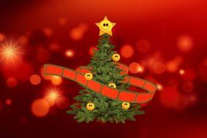 Weihnachtsbaum mit Film